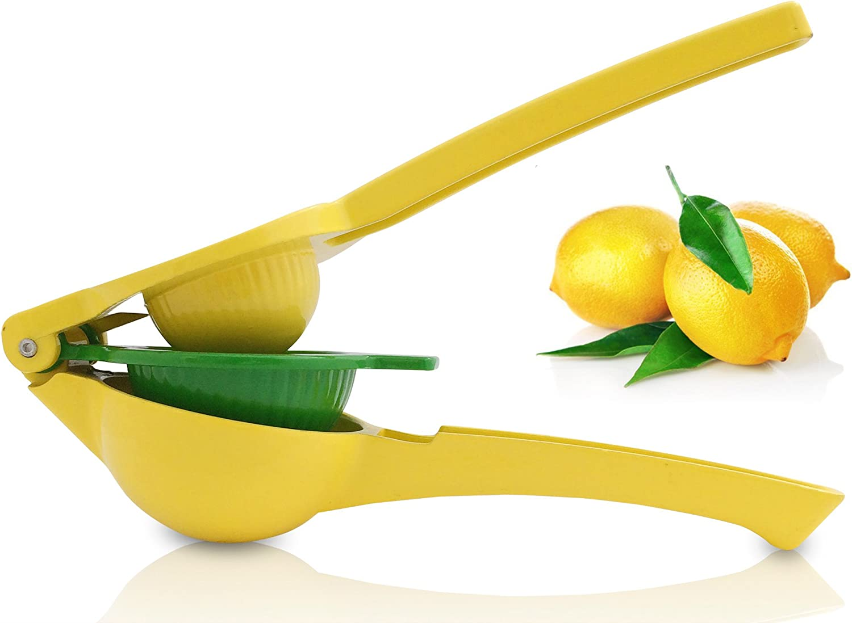 Exprimidor de Limón - Lima - Naranja: Exprimidor Manual (amarillo verde)