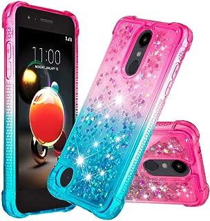 LG Aristo 3 Case, LG Aristo 2/ Tribute Dynasty/Phoenix 4/ Rebel 4/ Aristo 2 Plus/Fortune 2/ Rebel 3 Case w/K8 Plus, Yoomer Gradient Quicksand Glitter Bling Liquid Floating Sparkle Case for LG K8 2018