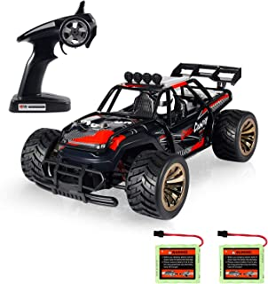 Theefun 1:16 Electric RC Car Off Road Vehicle 2.4GHz Radio Remote Control Car 2W 10MPH High Speed Racing Monster Truck 2 Rechargeable Battery