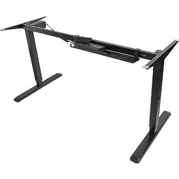 VIVO Black Electric Stand Up Desk Frame Workstation, Single Motor Ergonomic Standing Height Adjustable Base (DESK-V102E)