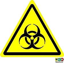 ISO Safety Label Sign - Warning: Biological hazard Symbol - Self adhesive sticker 100mm x 100mm