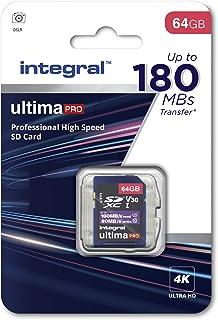Integral Memory 64 GB SDxC Premium Super High Speed upp till 180 MB/s läshastighet, 80 MB/s skrivning, klass 10 V30 UHS-I ...