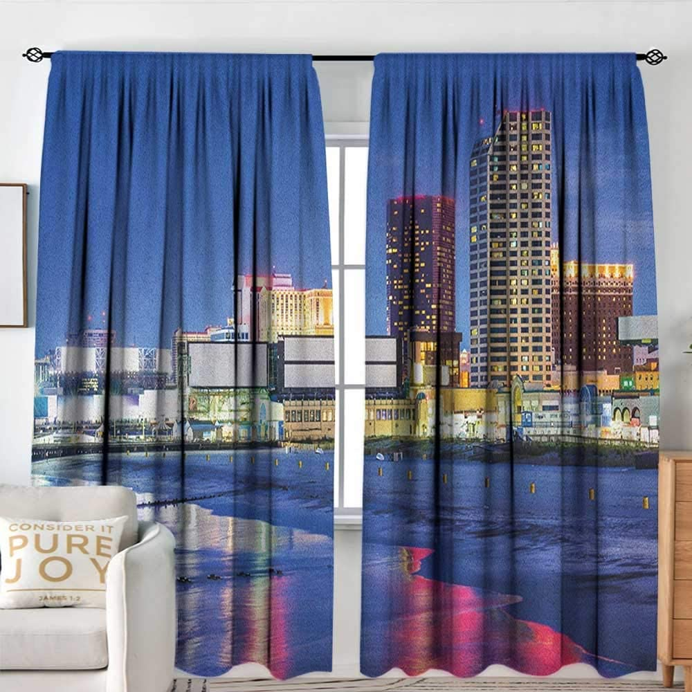 Inventory cleanup selling sale Rod Pocket Curtains City Resort Special sale item Casinos on Night Shore Atlant at