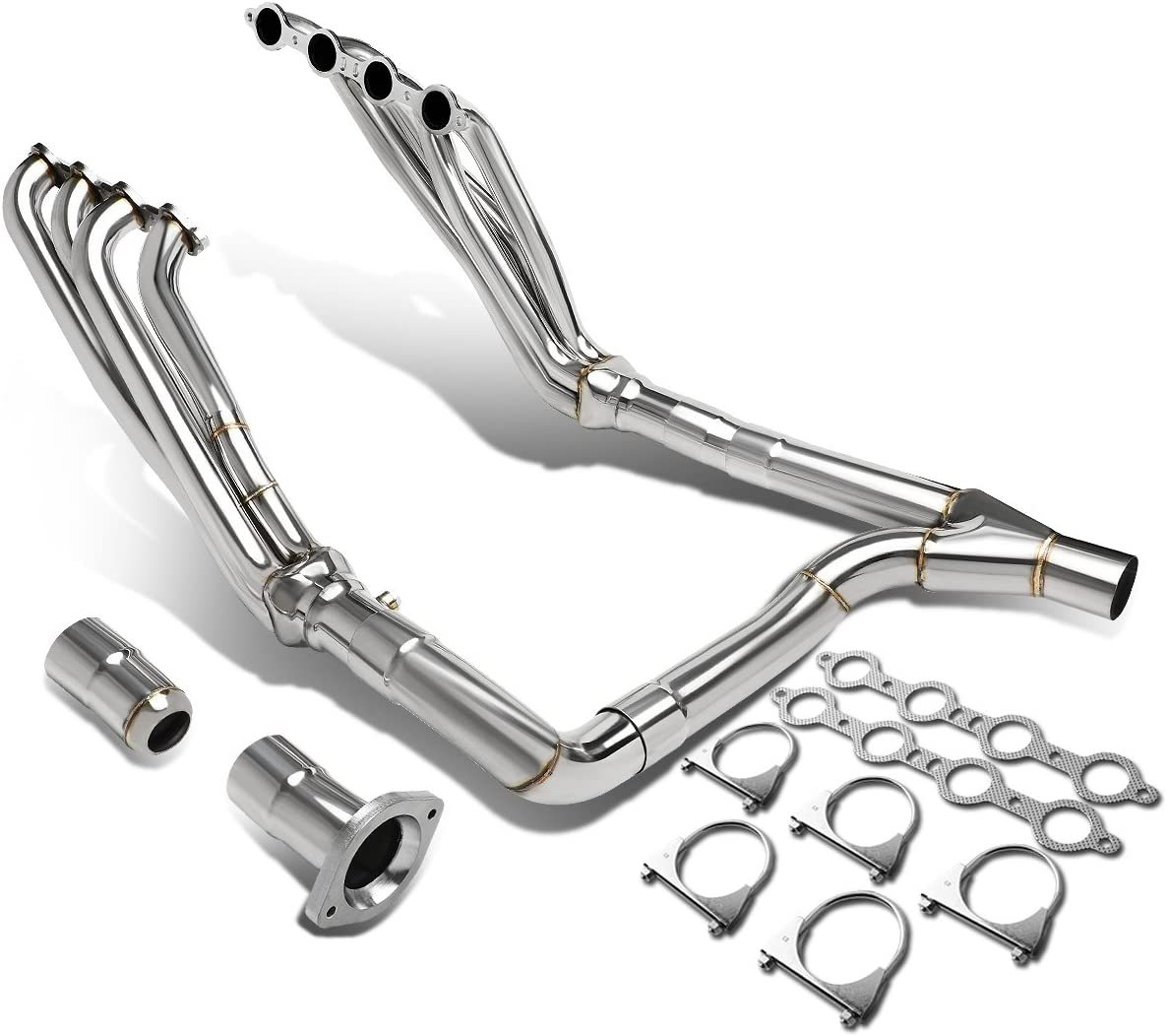 DNA Motoring HDS-CS07+Y Max 85% OFF Tulsa Mall Stainless Header Exhaust Manifold Steel