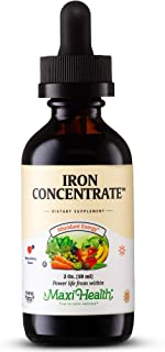 Maxi-Health Iron Supplement 15mg Per ML – Increase Energy and Blood Levels Without Nausea or Constipation – Liquid Iron Dr...