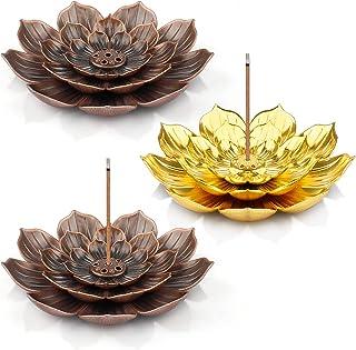 Supports d'encens Lotus, 3 Pcs Porte-Encens Lotus sont Utilisés pour l'encens et la Décoration et Porte-Encens de Lotus en...