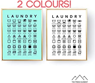 image relating to Laundry Symbols Printable referred to as Amazon.ca: laundry place decor - Imagine Frames / Images