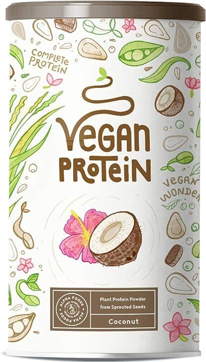 Proteine vegane   cocco   proteine vegetali - 600 grammi AF-113