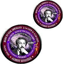 Albert Einstein Scientist/Physicist Born Pisces Zodiac Earth Rabbit Magnet + Pin