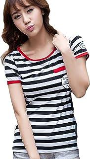 [MIKA&MAYA] 半袖 ボーダー Tシャツ カットソー レディース ウェア カジュアル シャツ