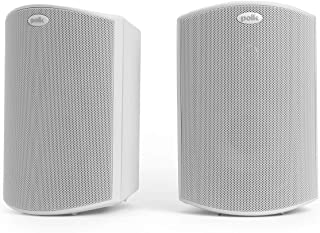 Polk Audio Atrium 4 Outdoor Speakers White with Powerful Bass | All-Weather Durability | Broad Sound Coverage | Speed-Lock...