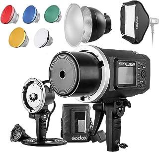 Godox AD600BM 600WS GN87HSS Outdoor-flaş flaş flaş Cep telefonu Blitz başlık, 23x 23inç stüdyo ışığı, Canon Nikon Sony DSLR kamerası için 7inç reflektör ile dağıtıcı ve taşıma çantası