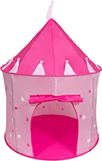 Cinderella USA Girl's Pink Princess Play Castle Pop Up Tent   Play Tent   Girls Tents For Kids   Princess Castle   Indoor Popup Bedroom Playroom Toddler Imagination Fun   Glow In The Dark Stars