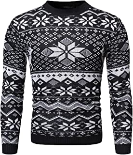 Men's Christmas Holiday Themed Ugly Sweater Cute Pullover
