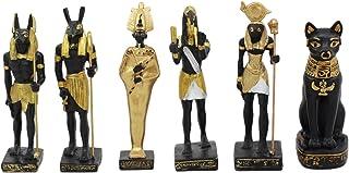 Ebros Egyptian Classical Deities Miniature Figurine Gods of Egypt Dollhouse Miniature Statue Legends of Ancient Egypt Educ...