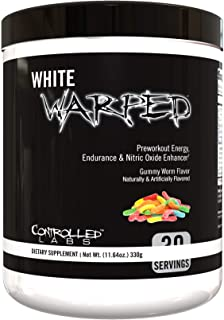 White Warped Pre-Workout Powder by Controlled Labs, 30 Servings for Increased Energy, Endurance, and Nitric Oxide Enhancem...