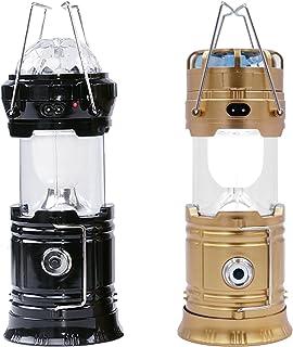 (マグリエゾン) Magu・Liaison LEDランタン ポータブル 充電式 USB充電器 扇風機 ソーラー充電 懐中電灯 テントランプ アウトドア キャンプ 登山 夜釣り ハイキング 2個セット