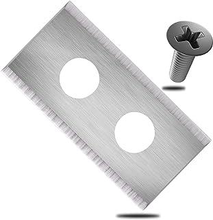 ECENCE Hojas de Repuesto Tipo Cuchillas de Acero Inoxidable para Robot cortacésped - 30 Piezas - para Worx Landroid - Incl...