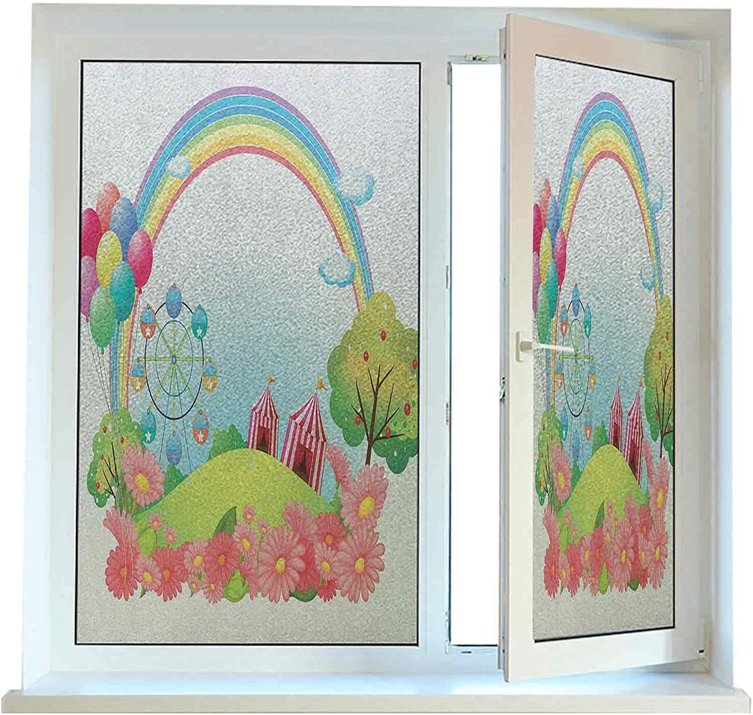 Window Film Tampa Mall Privacy Circus Static x Cling V 78