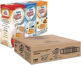 Coffee-Mate Liquid Coffee Creamer, French Vanilla/Hazelnut/Original, 0.38 oz Mini Cups, 150 Cups/Carton