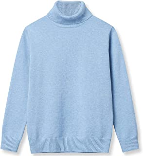 Girl Sweaters Pullover Turtleneck Knitted Long Sleeve Solid Color Kids Winter Tops Clothes