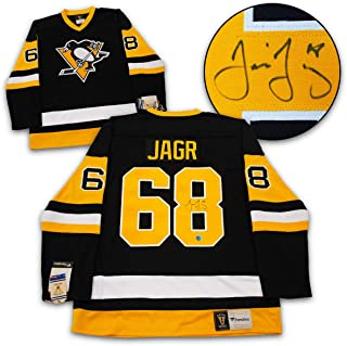 AJ Sports World Jaromir Jagr Pittsburgh Penguins Autographed Fanatics Vintage Hockey Jersey