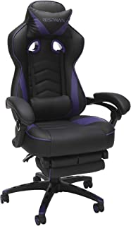 RESPAWN RSP-110 Reclining Ergonomic Gaming Chair with Footrest in Purple