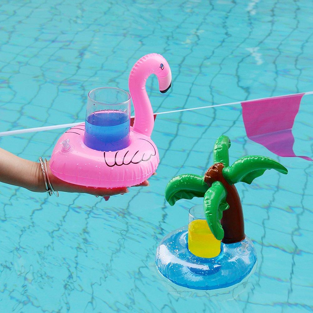 Newin Star Flotador Posavasos,Portavasos Hinchable de Bebida de Cocotero Juguetes Flotantes hinchables de Verano Fiestas de Piscinas