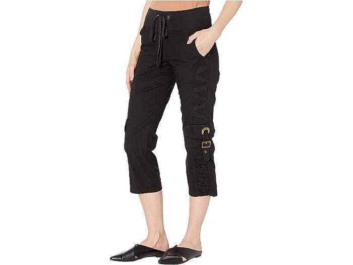 Xcvi Wearables Variete Crop Pants In Stretch Poplin Black