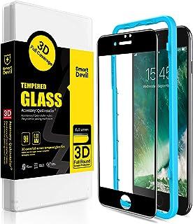 SmartDevil Protector Pantalla de iPhone SE 2020/8/7,Cristal Templado iPhone SE 2020/8/7,Vidrio Templado [Fácil de Instalar...