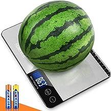 HOMEVER Balance Cuisine, 15kg Balance de Cuisine Electronique de Haute Précision, LCD Rétroéclairé Acier Inoxydable, Arrêt...