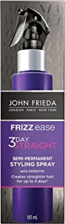 John Frieda Frizz Ease 3-Day Flat Iron Spray, Heat-activated Straightening Spray, to Block Out Frizz, with Keratin Protei...