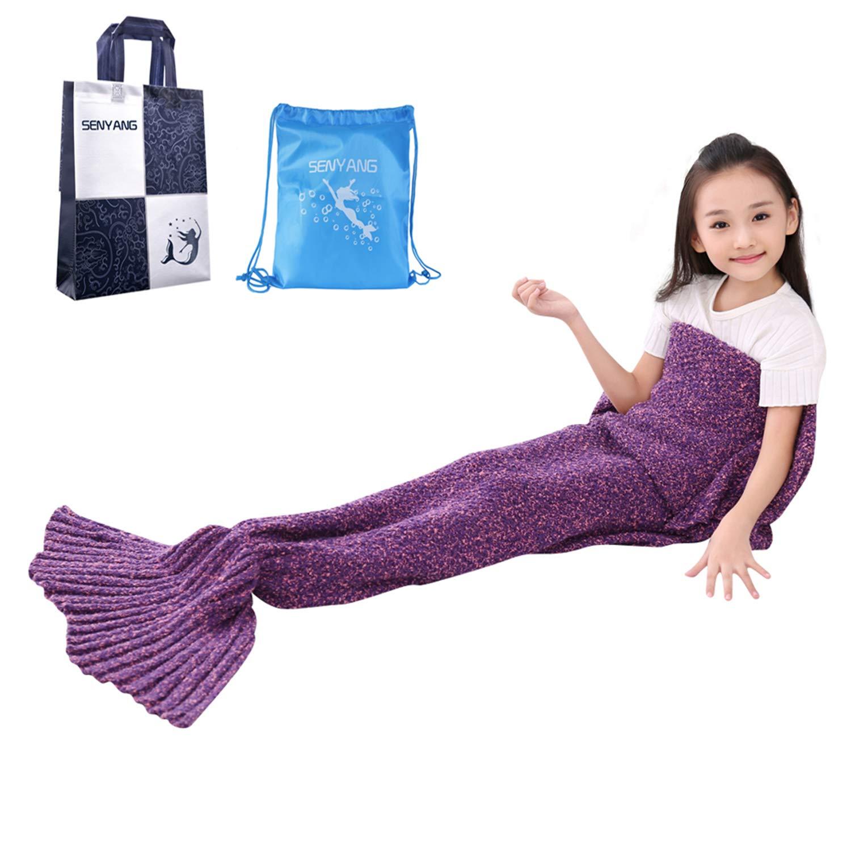 SENYANG Mermaid Tail Blanket Mermaid Blanket for Kids Hand Crochet Snuggle Kids Mermaid Blanket for  sc 1 st  Amazon.com & Christmas Gifts for Children: Amazon.com