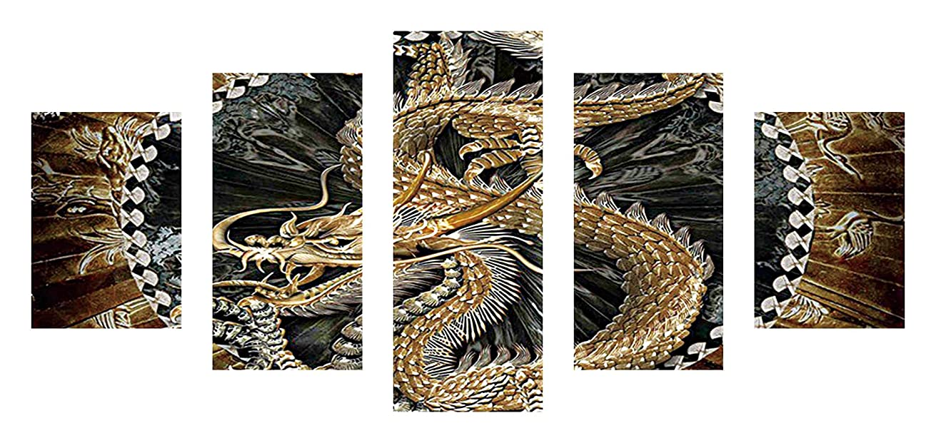 SuperDecor DIY 5D Diamond Painting Kits Full Drill Diamond Embroidery Chinese Dragon by Number Kits for Adults and Kids Home Wall Decorations
