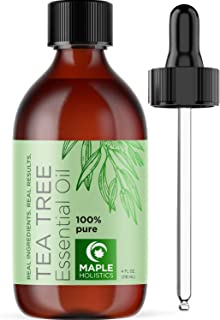 Pure Tea Tree Oil 4oz - Tea Tree Essential Oil for Hair Skin and Nails - Australian Tea Tree Oil 100 Percent Pure Essentia...