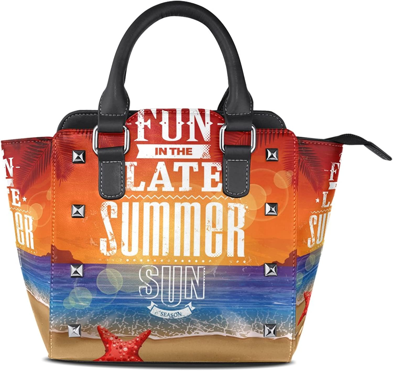My Little Nest Women's Top Handle Satchel Handbag Summer Sun Ladies PU Leather Shoulder Bag Crossbody Bag