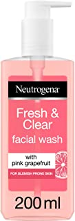 Neutrogena, Fresh & Clear Facial Wash, Pink Grapefruit & Vitamin C, 150ml