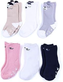 Calcetines de lana para recién nacido con puños