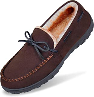 Sponsored Ad - MIXIN Mens Slippers Moccasins Slippers for Men Warm House Slip on Flats Shoes with Cozy Memory Foam Men's I...