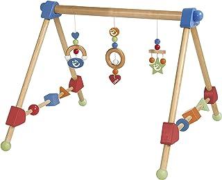 roba Arc activités en bois et MDF laqué, pour apprendre à agripper et développer les sens, avec 3 éléments de jeu suspendu...