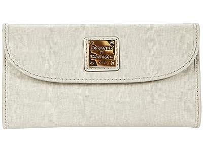 Dooney & Bourke Saffiano Continental Clutch (Ecru) Handbags