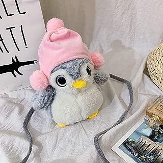Fashion Women Girl Cute Fat Penguin-Like Bags Plush Crossbody Bags Weird Bags Shoulder Bag Messenger Bag Outdoor Travel Bag,16cm(L) x13cm(W) x25cm(H)