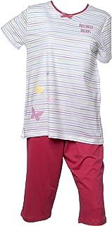 Ladies Jersey Cotton Polka Dot Pyjamas Spotty Vest Top /& Plain Shorts PJs Set