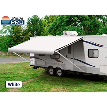 14 Feet Width Size Options RV Awning Replacement RV Awning Fabric Gray Standard Grade Vinyl