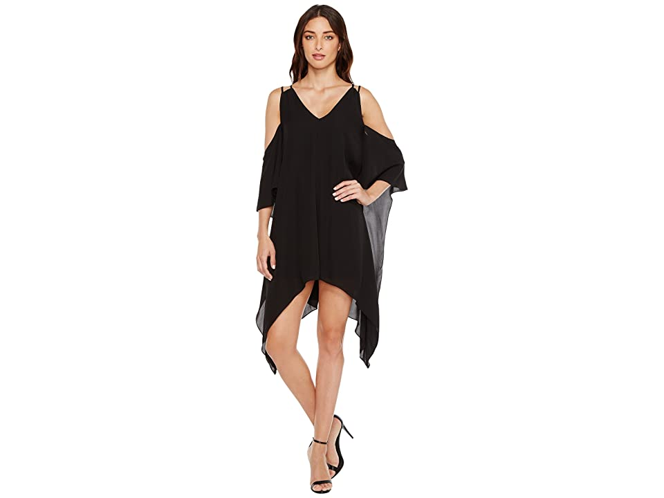Adelyn Rae Fiona Woven Shift Dress (Black) Women