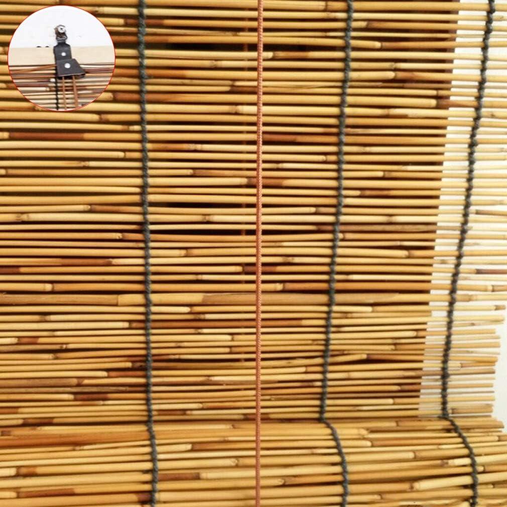Zlovne Retro 人気 Carbonization 有名な Hand-Woven Natural Reed Bambo Curtain