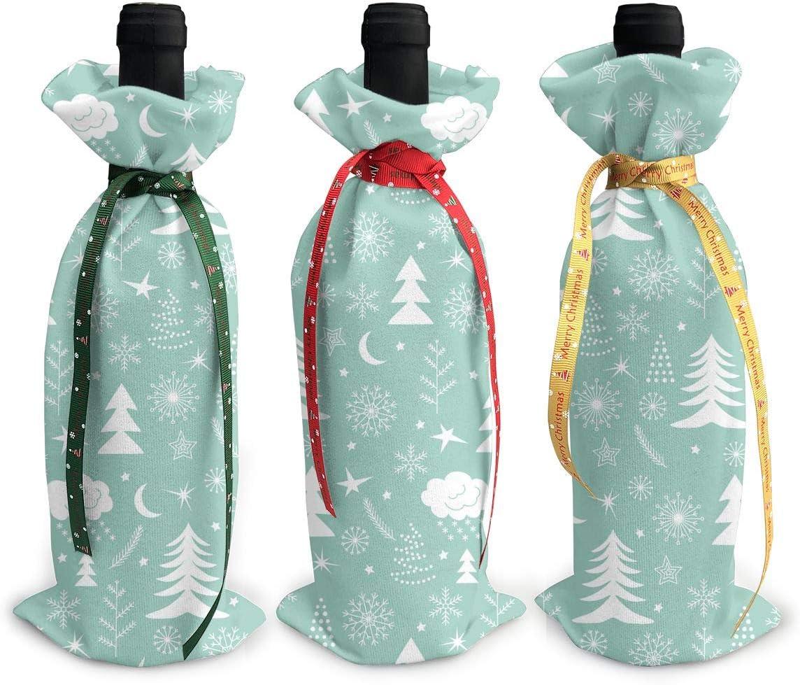 Green Christmas Tree Snowflake Red Kansas City Mall Moon3Pcs Wine Xmas Department store