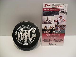 Dustin Brown Autographed Signed Memorabilia Los Angeles Kings 1000th Game Puck JSA Cert Coa