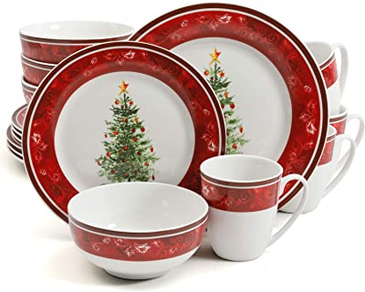 Amazon Com Spode Christmas Tree 12 Piece Dinnerware Set Service