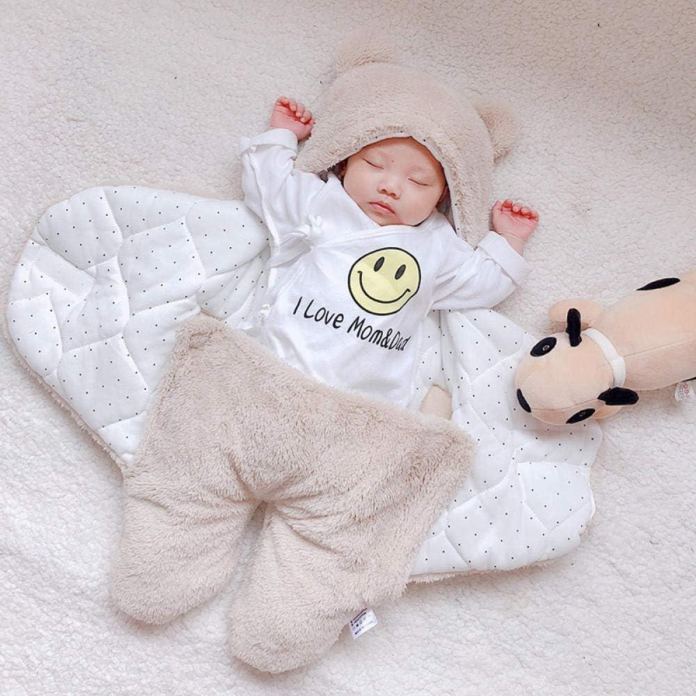 couverture de bébé swaddle coton doux nouveau-né bébé swaddle wrap sac de couchage KAQI 3M
